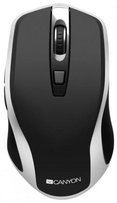 Bezdrátové myši Bezdrátová myš Canyon CNS-CMSW19B, s bezdrát. nabíjením, černá