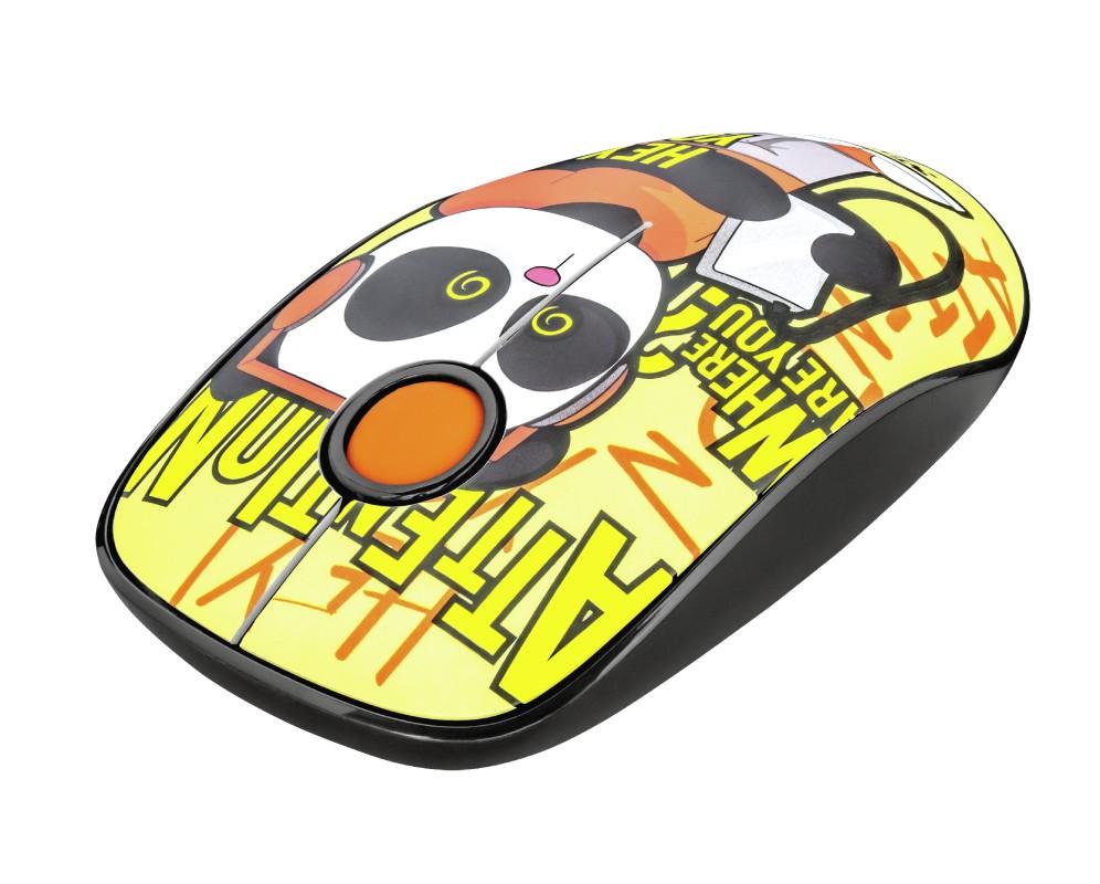 Bezdrátové myši Bezdrátová myš Trust Sketch, žlutá