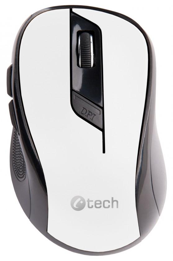 Bezdrátové myši C-Tech WLM-02, černo-bílá WLM-02W