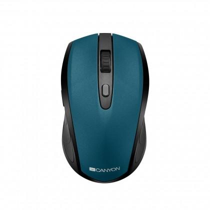 Bezdrátové myši Canyon CNS-CMSW08B, optická myš Bluetooth/Wireless USB, zelená