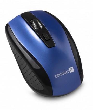 Bezdrátové myši Connect IT bezdrátová optická myš, modrá (CI-1225)