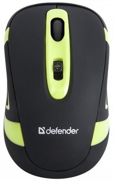 Bezdrátové myši Defender Magnifico MM-505, černá-zelená