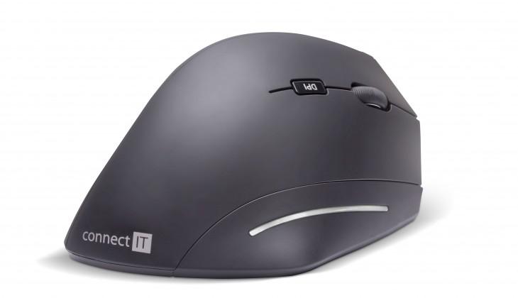 Bezdrátové myši Ergonomická myš Connect IT CMO-2510-BK