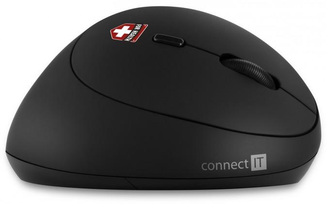 Bezdrátové myši Ergonomická myš Connect IT CMO-2600-BK