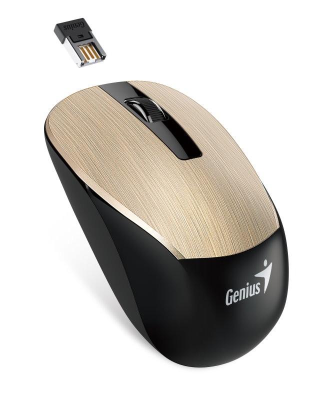 Bezdrátové myši Genius NX-7015 (31030119103), zlatá
