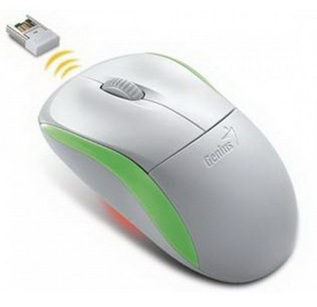 Bezdrátové myši Genius Wireless NS6000, bílá-zelená