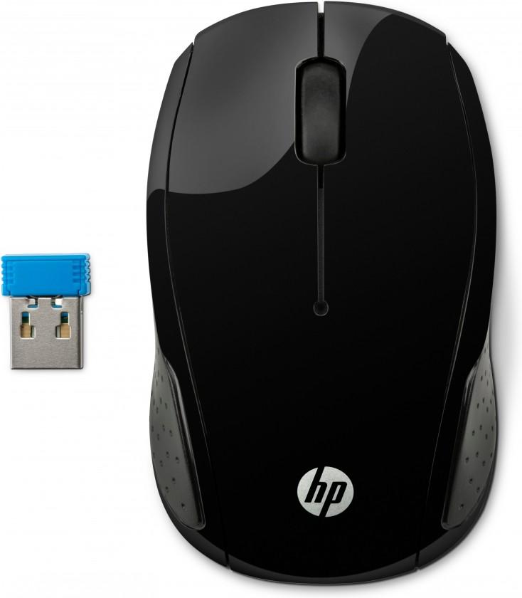 Bezdrátové myši HP 200, černá X6W31AA#ABB