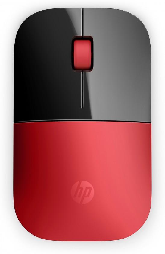 Bezdrátové myši HP Z3700 Wireless Mouse - Cardinal Red (V0L82AA#ABB)