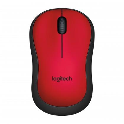 Bezdrátové myši Logitech M220 Silent Mouse for Wireless, červená