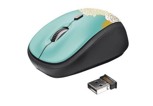 Bezdrátové myši TRUST Myš Yvi Wireless Mouse - flower USB, bezdrátová