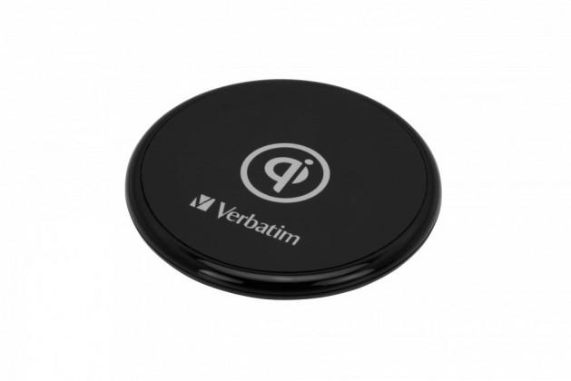 Bezdrátové nabíječky Bezdrátová nabíječka Verbatim 10W s QI, gumová, černá
