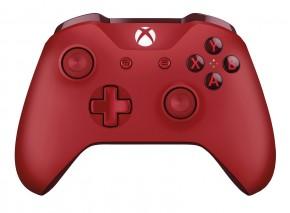 Bezdrátový ovladač Microsoft XBOX ONE S Wireless, červený
