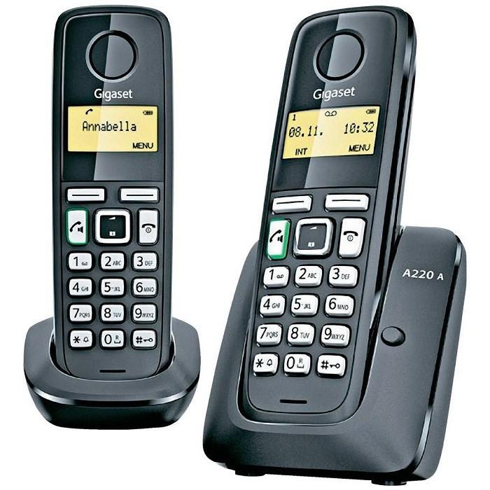 Bezdrátový telefon Siemens Gigaset A220A Duo