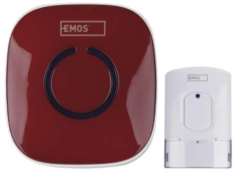 Bezdrátový zvonek Domovní bezdrátový zvonek Emos P5718R AC 838R RUD