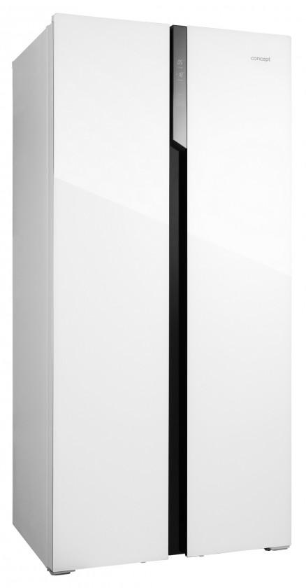 Bílá Americká chladnička Concept LA7383wh bílé sklo