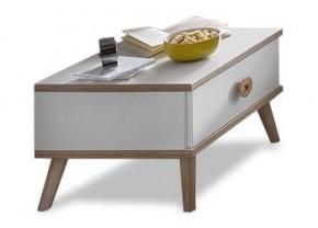 Billund - Noční stolek (alpská bílá, dub)