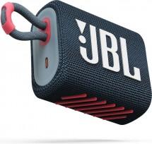 Bluetooth reproduktor JBL GO 3, růžovo-modrý