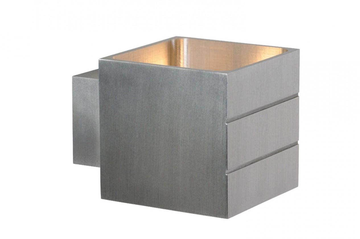 Bok - nástěnné osvětlení, 40W, G9, 8 cm (stříbrná)