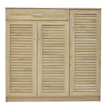 Botník Berri (3x dveře, 1x zásuvka, dub sonoma)