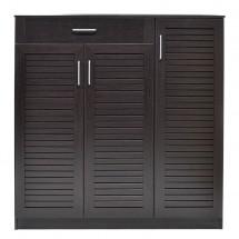 Botník Berri (3x dveře, 1x zásuvka, wenge)