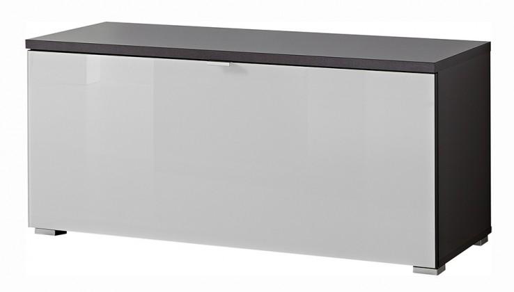Botník GW-Alameda - Botník,1x výklopné dveře (antracit/bílá)