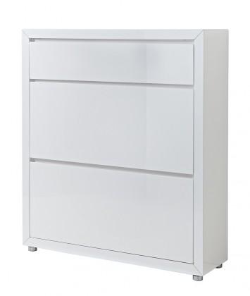 Botník GW-Fino - Botník,2x výklopné dveře,1x šuplík (bílá)