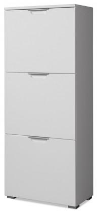 Botník GW-Gala - Botník, 3x výklopné dveře (bílá)