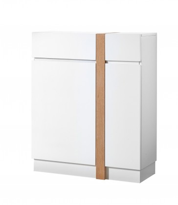 Botník GW-Loft - Botník,2x dveře,1x šuplík (bílá)