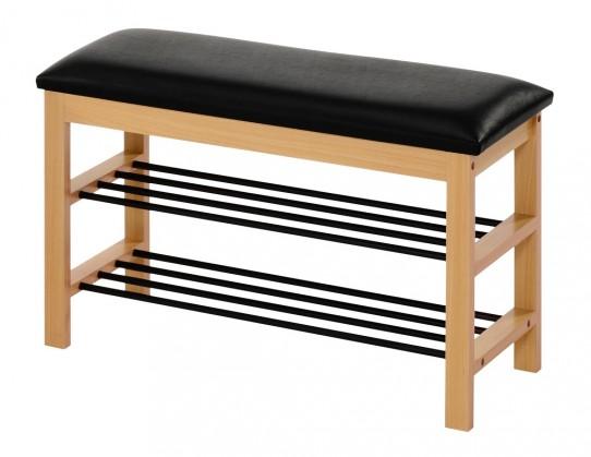 Botníky Botník Abrego (dřevo, černá)
