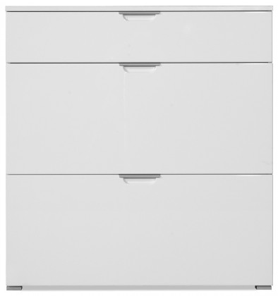 Botníky GW-Gala - Botník, 1x zásuvka, 2x výklopné dveře (bílá)