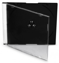 Box na CD COVER IT, slim, 10 ks/bal, černý/čirý