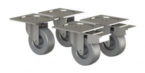 Box - nábytková kolečka, 4 kusy (šedá)