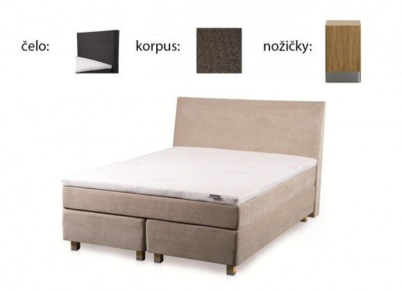 Boxbed (160x200, HB city 125x166 - anthracite, nohy select dub)