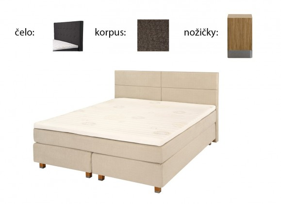 Boxbed (180x200, HB city 125x186 - anthracit, nohy select dub)