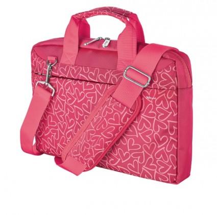 "Brašna Trust 21163 13,3"" pink hearts"