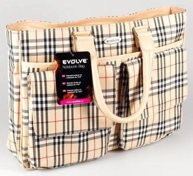 "Brašny EVOLVEO Country dámská taška na nb 15,6"", nylon, béžová"