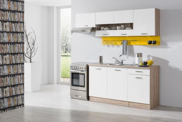 Bria - Kuchyňský blok 210 A (bardolino/bílá lesk/PD bardolino)