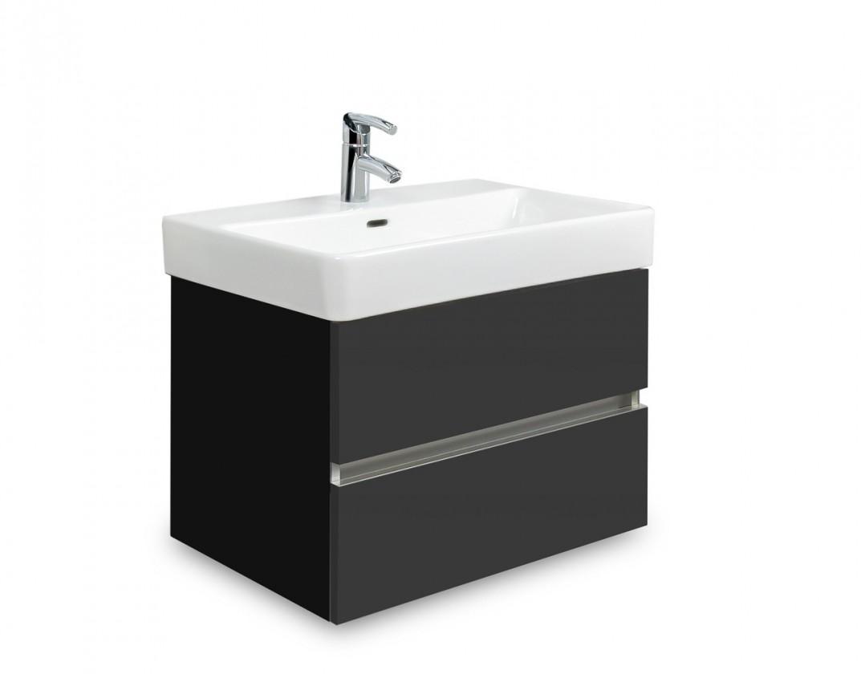Brisbane - skříň s umyvadlem Laufen Pro S 55cm (černá/antracit)