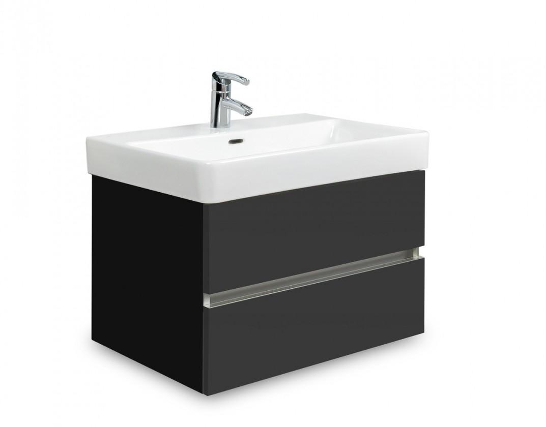Brisbane - skříň s umyvadlem Laufen Pro S 60cm (černá/antracit)