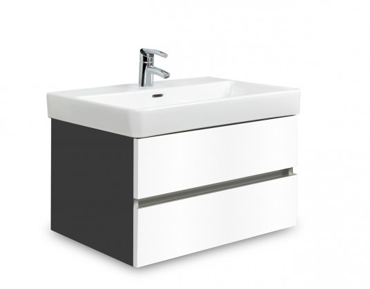 Brisbane - skříň s umyvadlem Laufen Pro S 65cm (antracit/bílá)