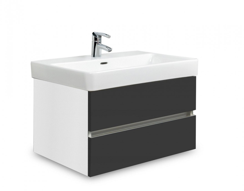 Brisbane - skříň s umyvadlem Laufen Pro S 65cm (bílá/antracit)