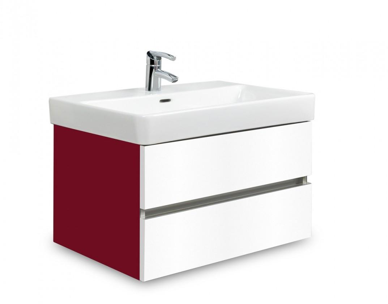 Brisbane - skříň s umyvadlem Laufen Pro S 65cm (bordó/bílá)