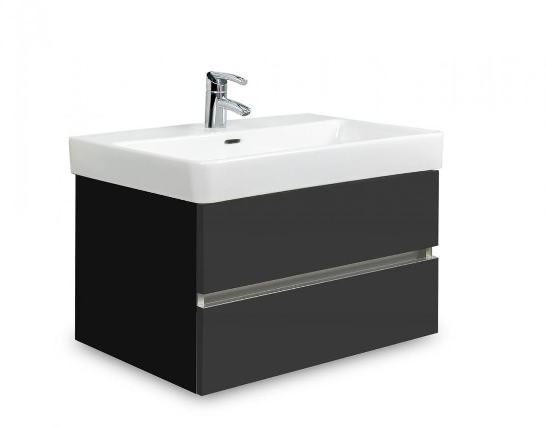 Brisbane - skříň s umyvadlem Laufen Pro S 65cm (černá/antracit)