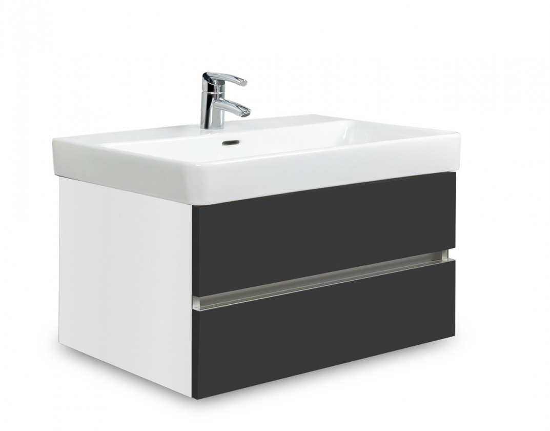 Brisbane - skříň s umyvadlem Laufen Pro S 70cm (bílá/antracit)