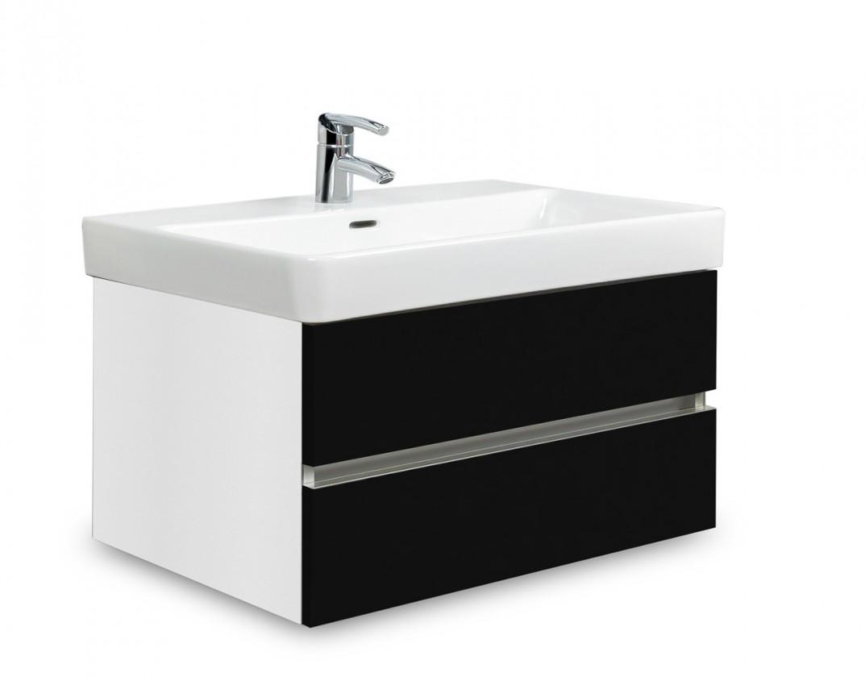 Brisbane - skříň s umyvadlem Laufen Pro S 70cm (bílá/černá)