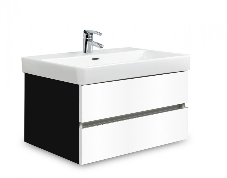 Brisbane - skříň s umyvadlem Laufen Pro S 70cm (černá/bílá)