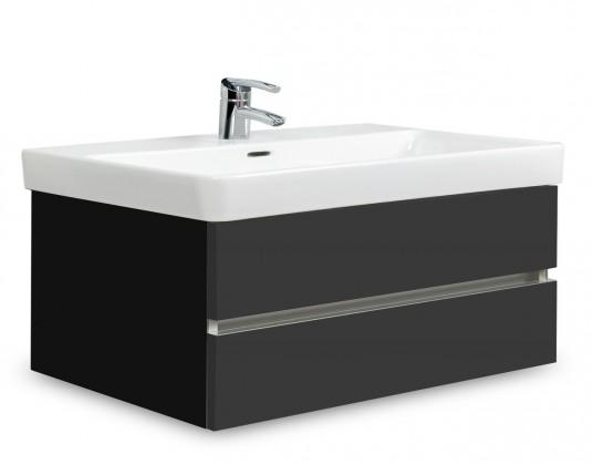 Brisbane - skříň s umyvadlem Laufen Pro S 85cm (černá/antracit)
