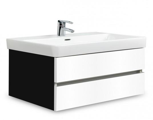 Brisbane - skříň s umyvadlem Laufen Pro S 85cm (černá/bílá)