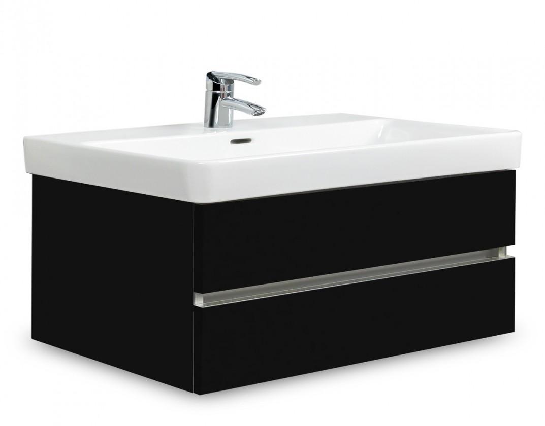 Brisbane - skříň s umyvadlem Laufen Pro S 85cm (černá)