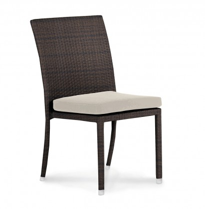 Brisbane - Židle stohovací (hnědá)
